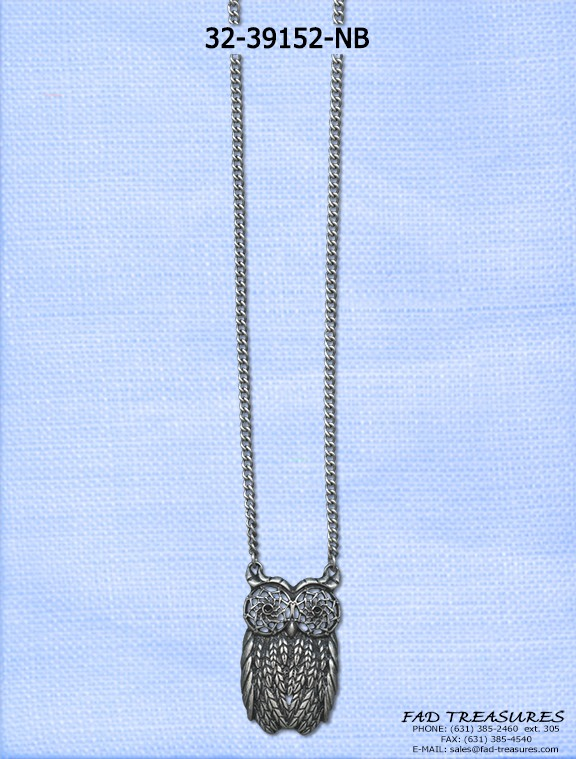 Chain With Owl Charm Necklace