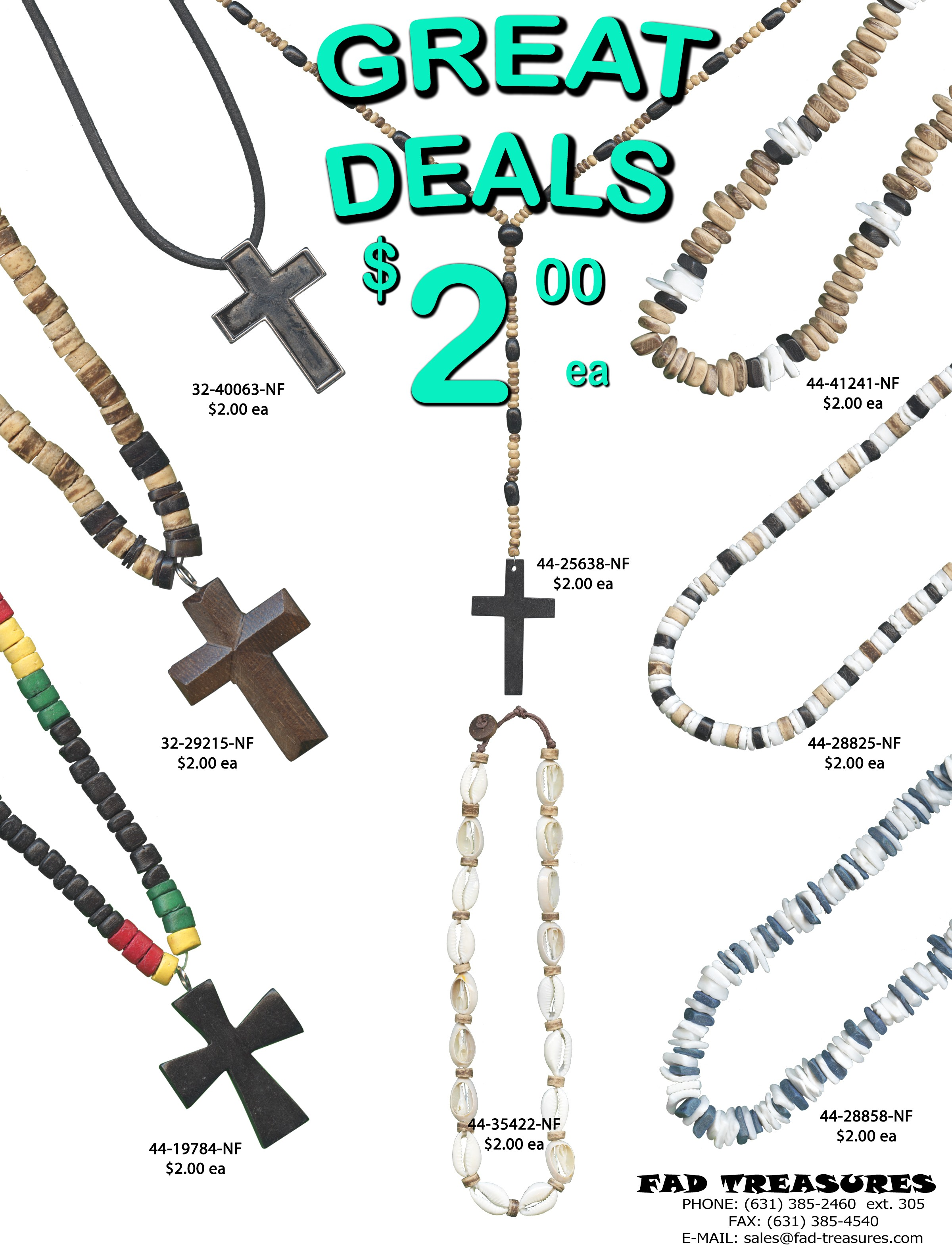 $2 GREAT DEALS Guys Necklaces