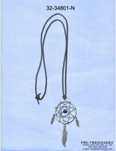 Leather Cord Dreamcatcher Necklace
